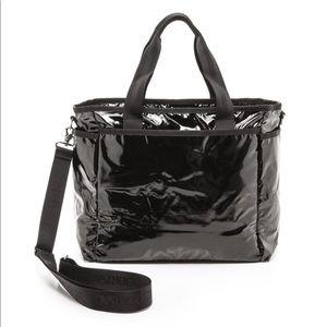 LeSportsac Ryan Diaper Bag Tote Patent Black